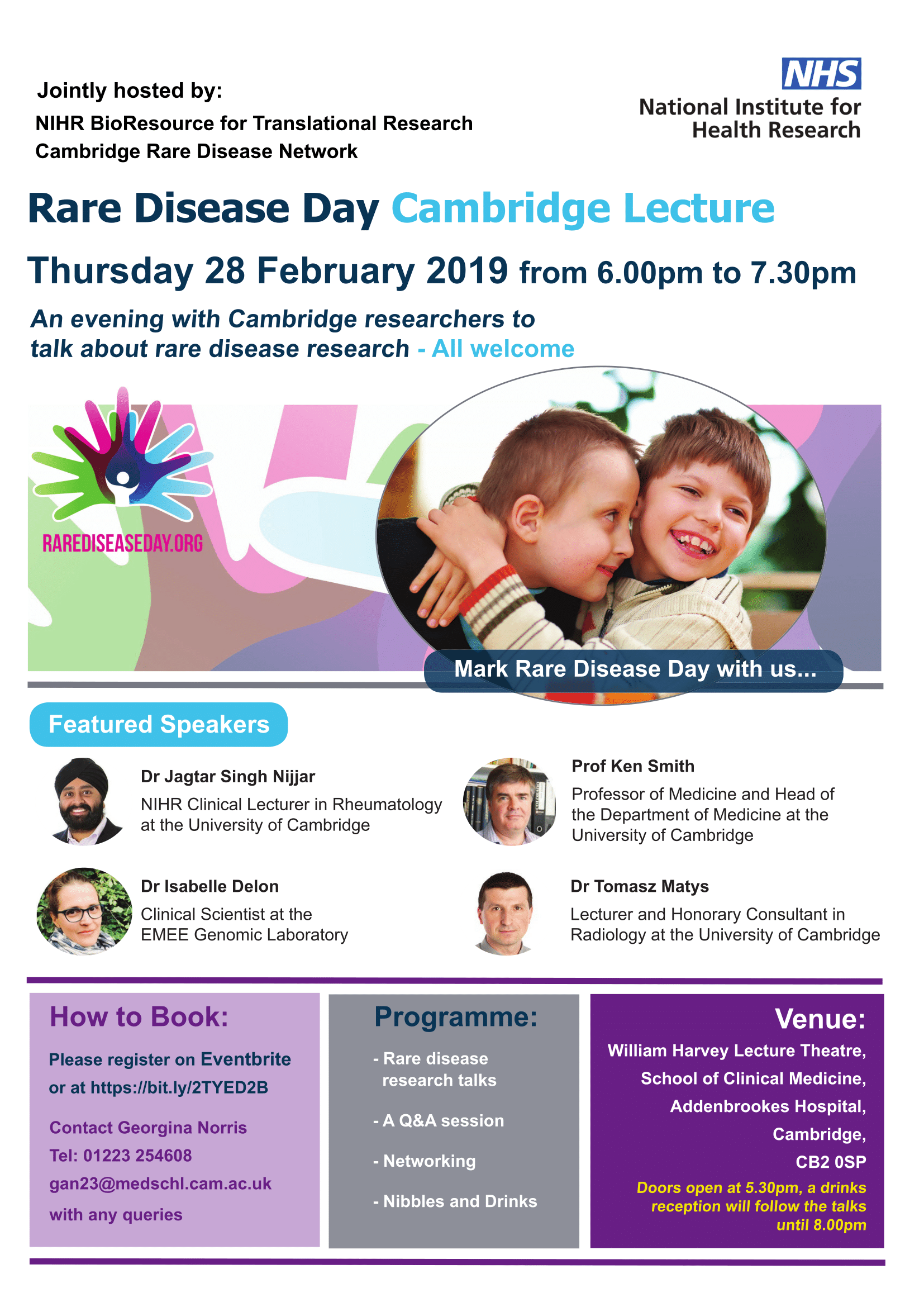 Rare Disease Day Cambridge Lecture Poster -1