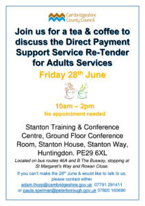 Adults Service Users Engagement Flyer