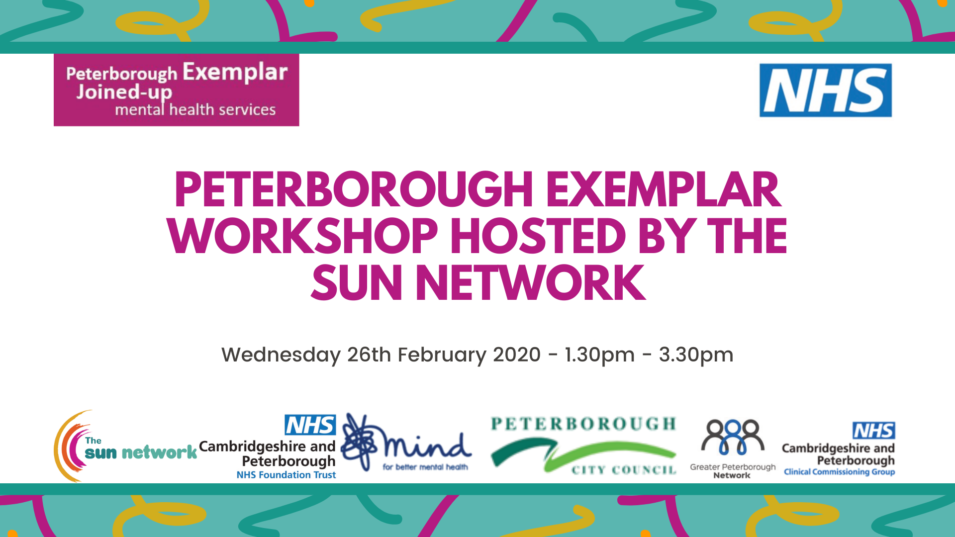 Peterborough Exemplar Workshop Hosted by the SUN Network