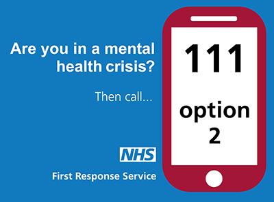 mental health crisis 111