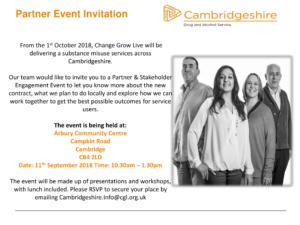 CGL Partner Event Invitation Cambridge