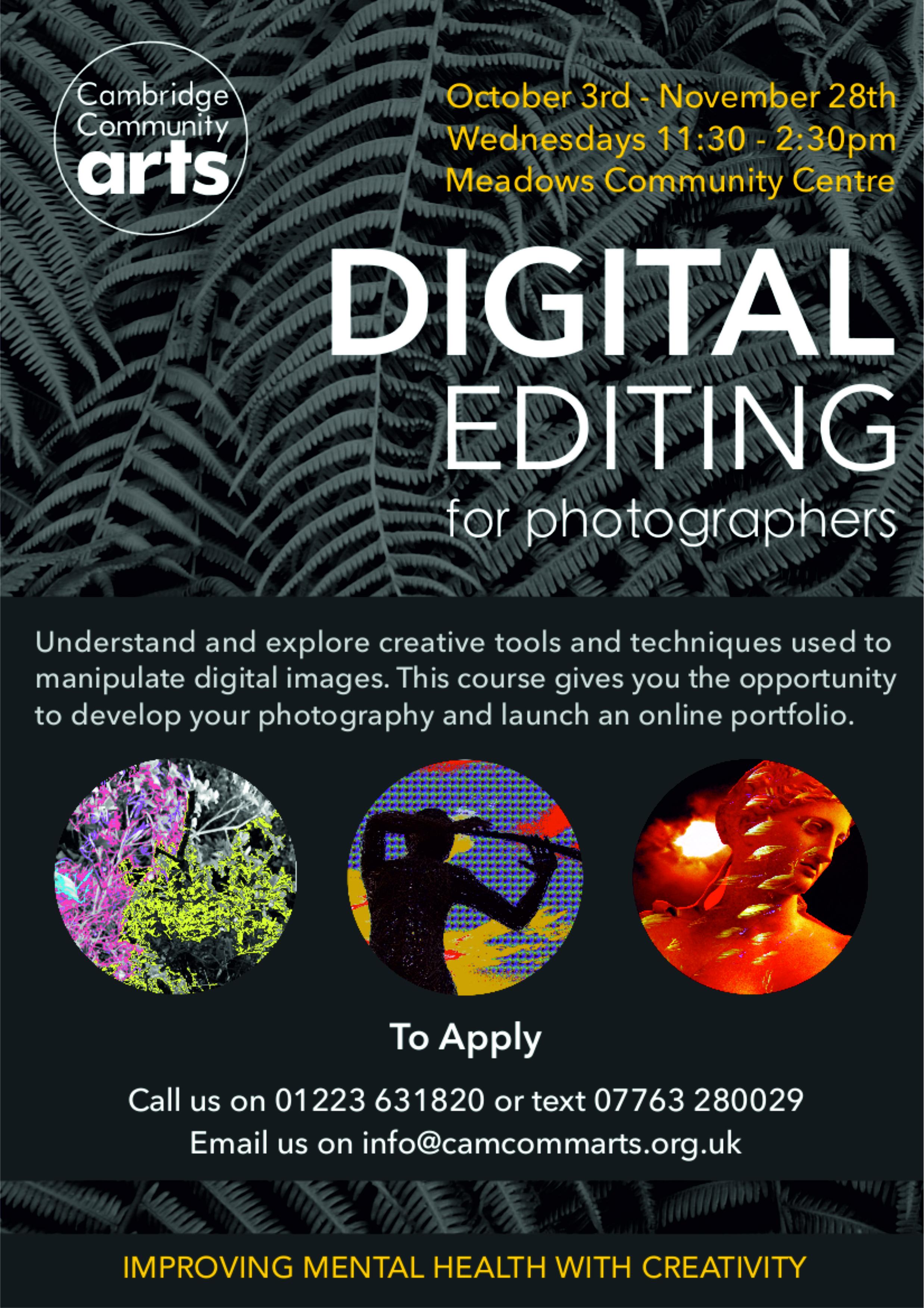 Digital Editing for Photographers Autumn 18
