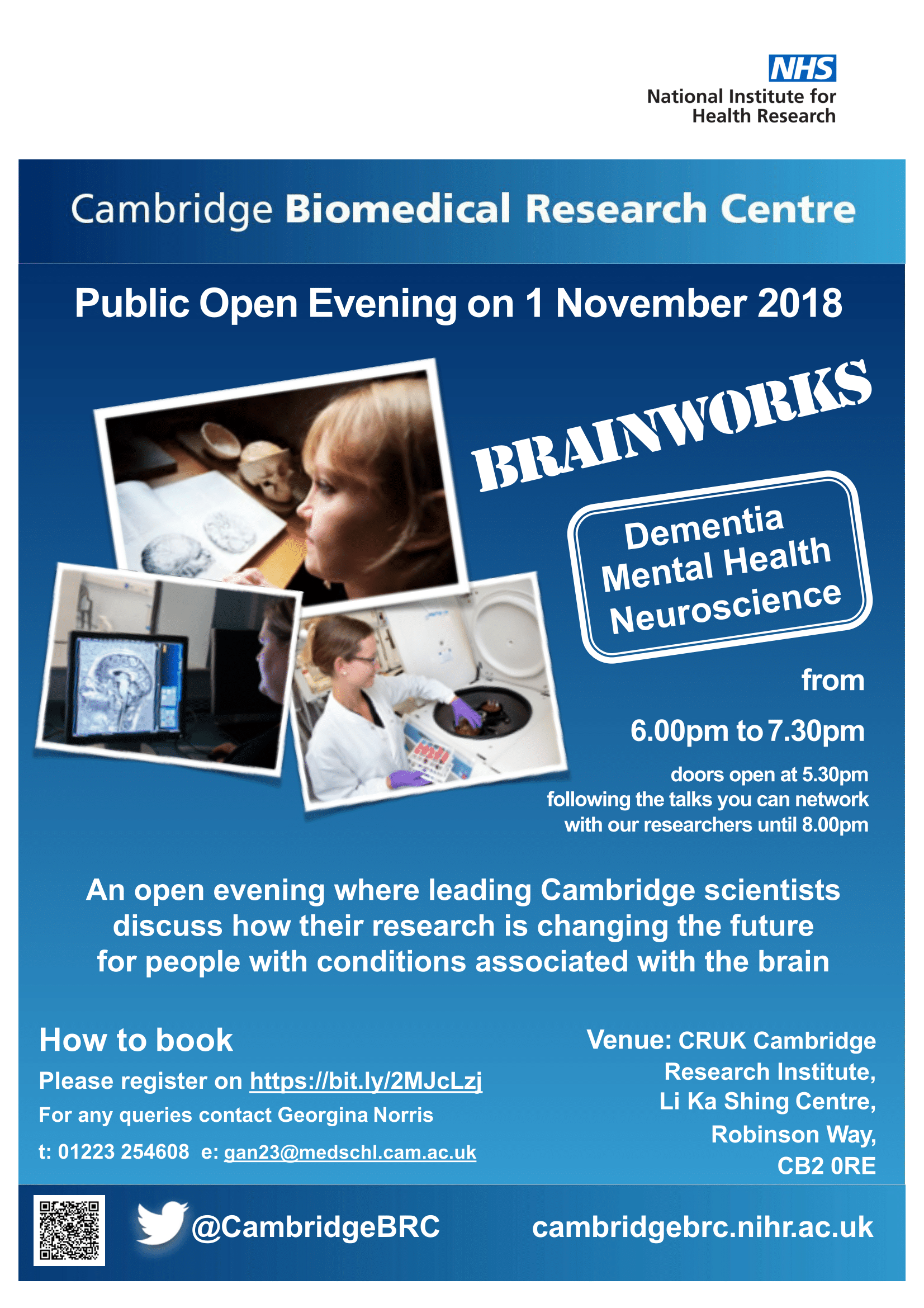 Cambridge BRC Public Open Evening Poster