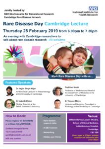 Rare Disease Day Cambridge Lecture Poster -1