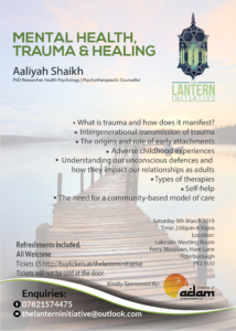 MH Trauma and healing poster