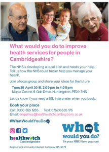 Long term - Cambs focus group flyer - general