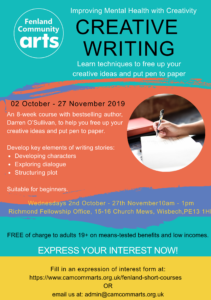 FCA Creative Writing Course image