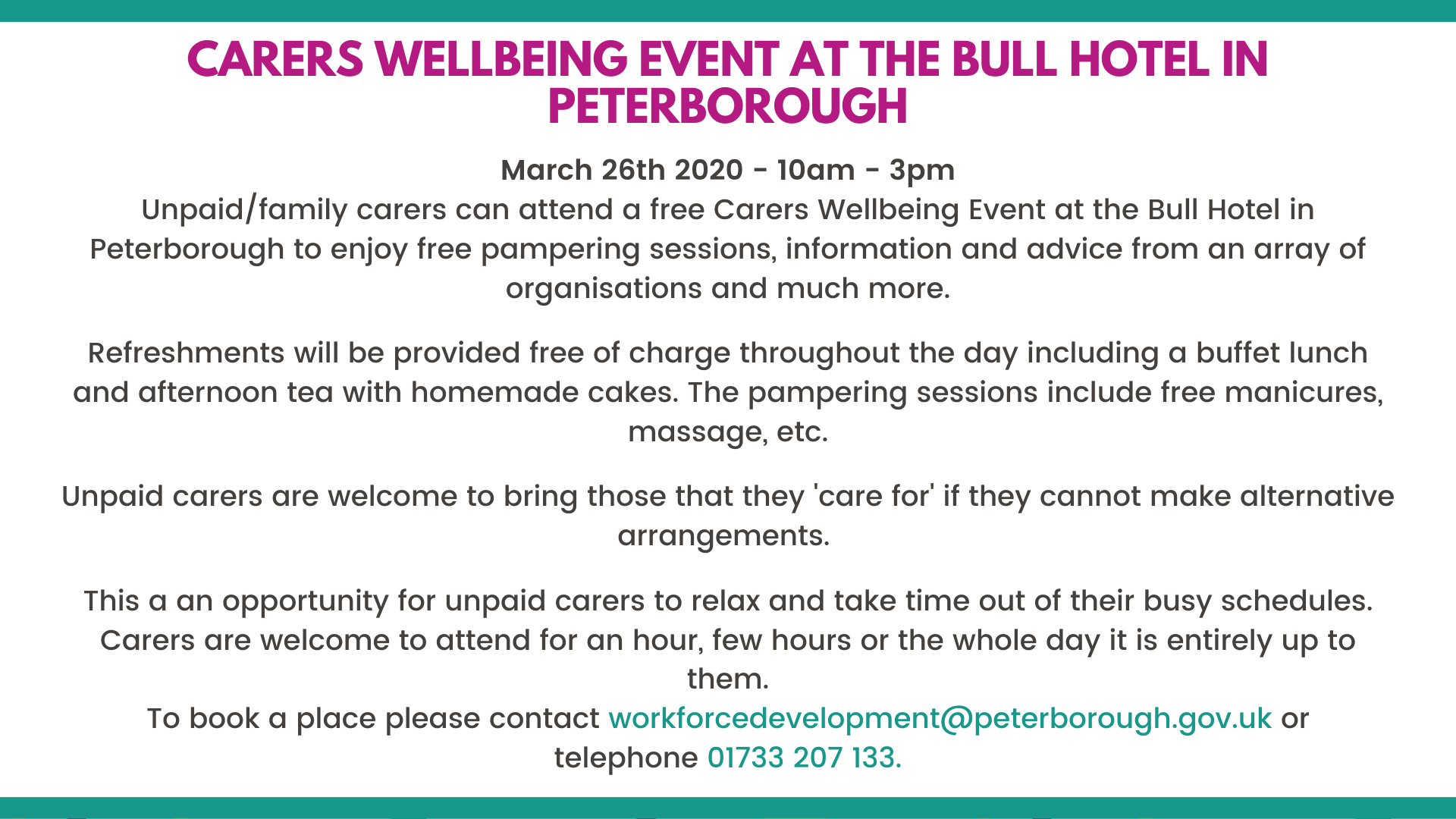 Carers Wellbeing Event