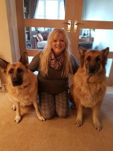 Lois and her dogs Roxy and Randall