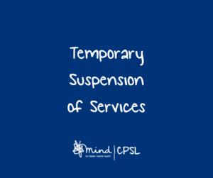 CPSL Services Suspension