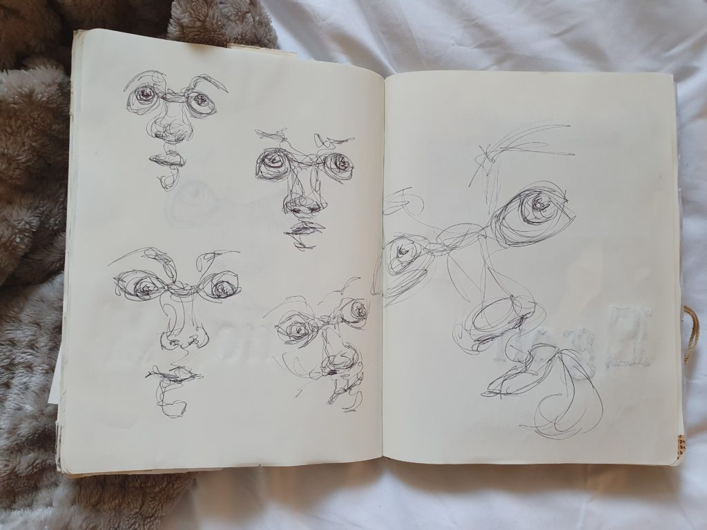 Sketchbook Page from Vickie of portraits