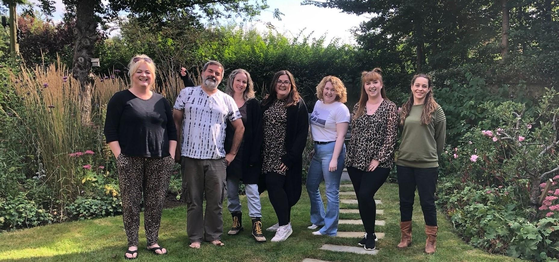 Team photo with Lois, KC, Jayne, Natasha, Vickie, Charlotte and Anne